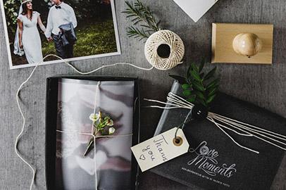 Verpackung Hochzeit