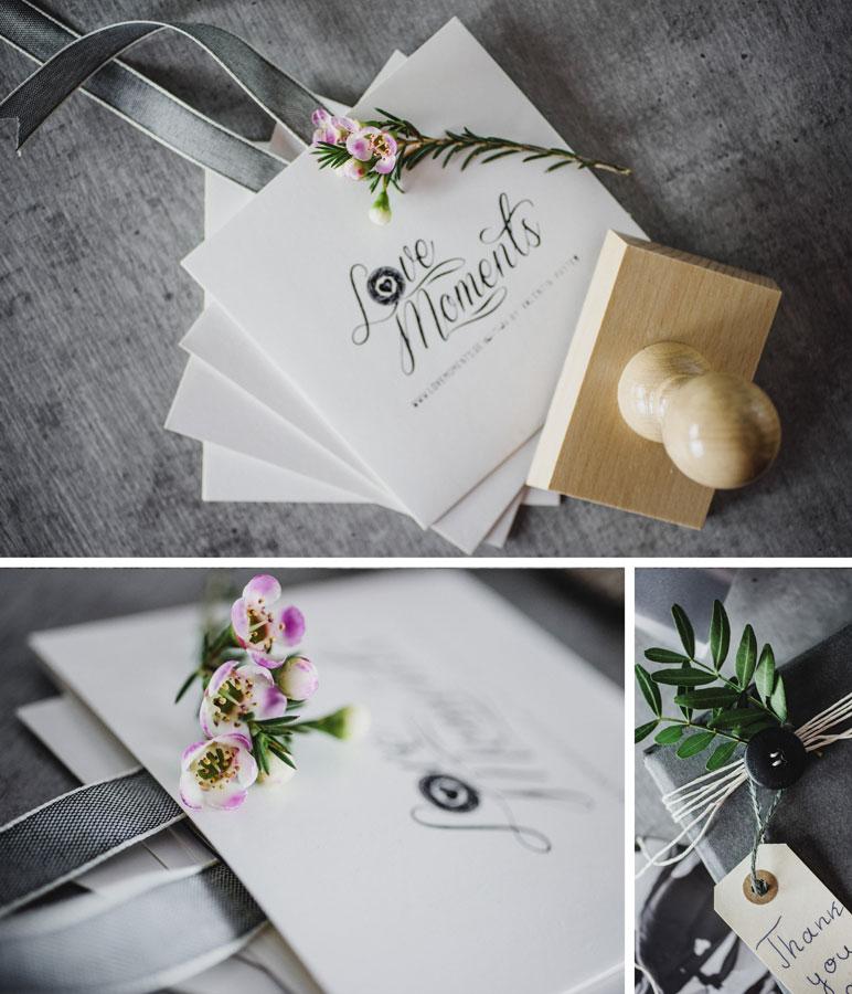 Hochzeitsbilder in origineller Verpackung