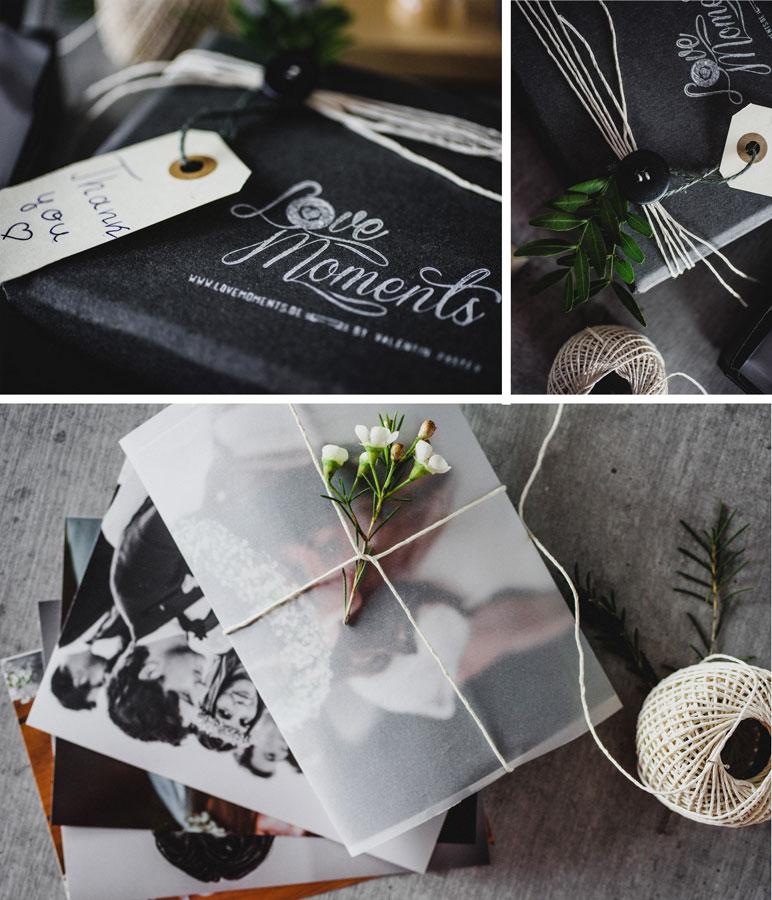 Hochzeitsfotos originell verpackt