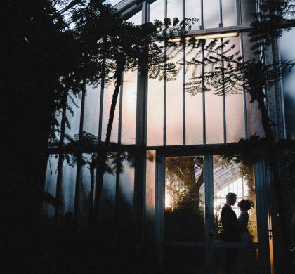 Heiraten im Winter – Fotoshooting im Botanischen Garten